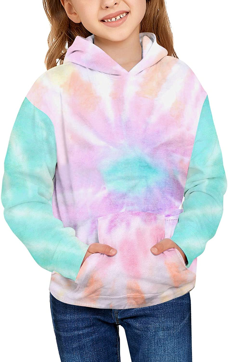 Special price for Max 46% OFF a limited time GRAPENT Girls Tie Dye Print Sweatshirt Sleeve Hoodie Active Long