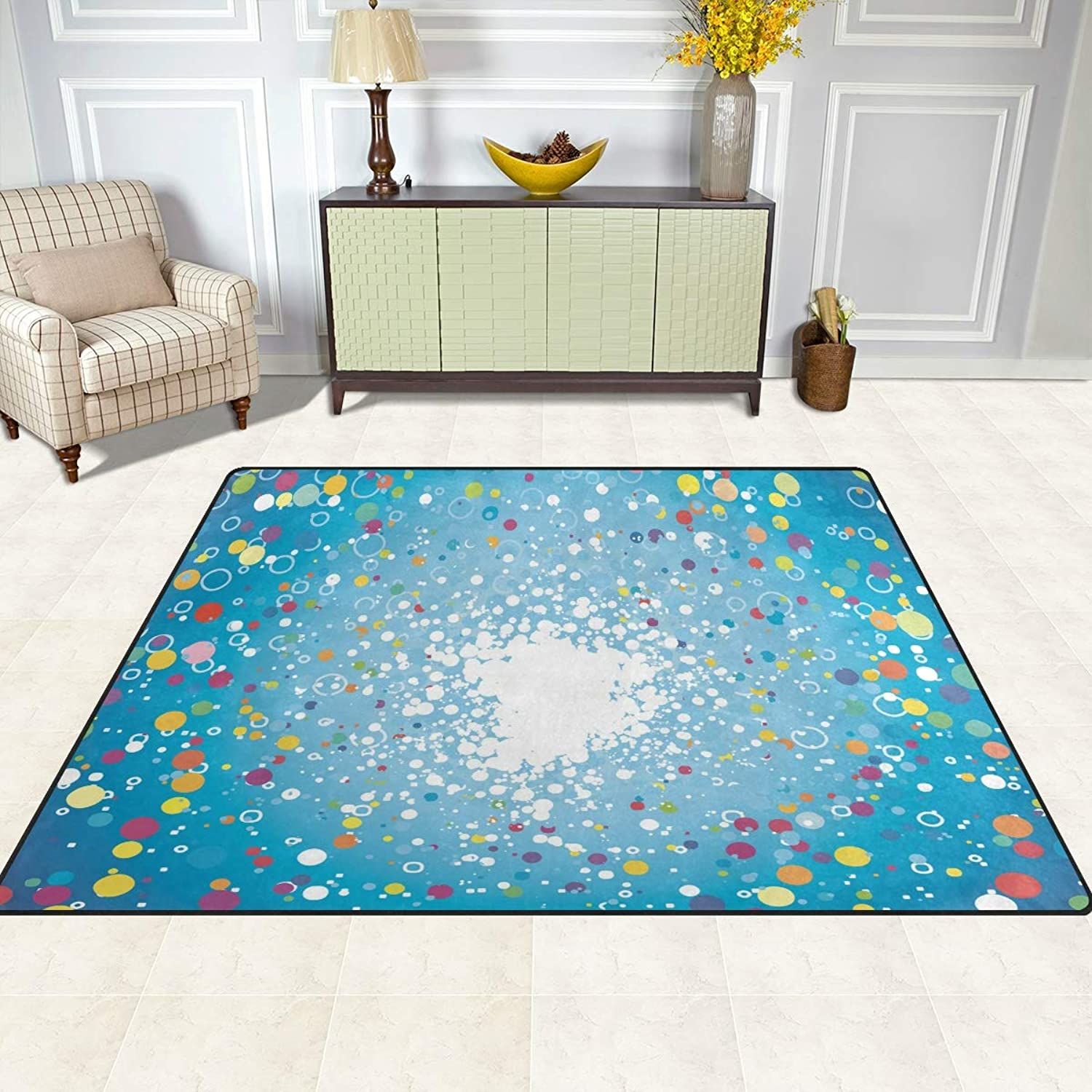 FAJRO colorful Dots Pattern Rugs for entryway Doormat Area Rug Multipattern Door Mat shoes Scraper Home Dec Anti-Slip Indoor Outdoor
