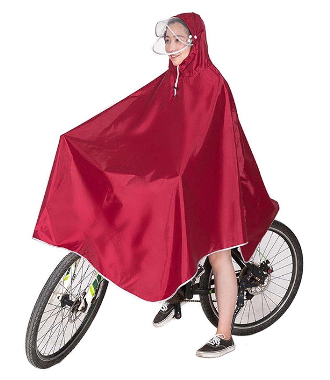 風が強い下る意味Ribution レインコート ポンチョ 雨具 厚手生地 ダブルバイザー 安全反射シート 収納袋付 男女兼用 フリーサイズ