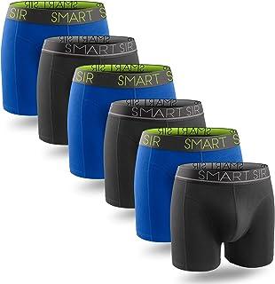 Mens Boxer Shorts Multipack Underwear Mens Boxers Briefs Trunks for Men Cotton Breathable 6 Pack S, M, L, XL, XXL, XXXL
