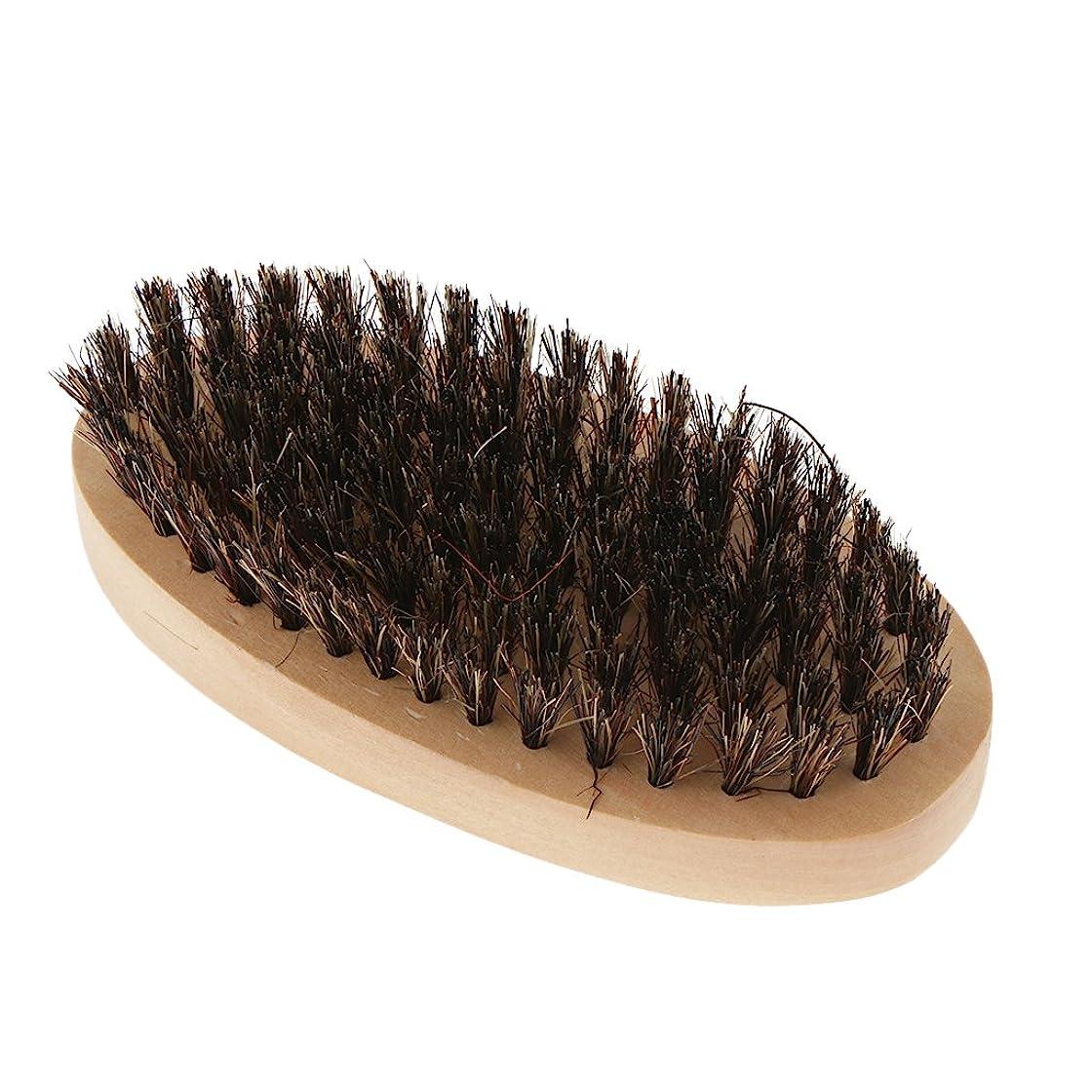 倫理的レギュラー切り刻むKesoto ビアードブラシ 男性 ひげブラシ 口ひげ 整髪スタイリング 木製のハンドル