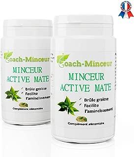 MATE Minceur Active Puissant Bruleur Graisse Perte Poids Contre Fatigue Cholesterol Ventre Plat 180 gelules livret minceur Offert