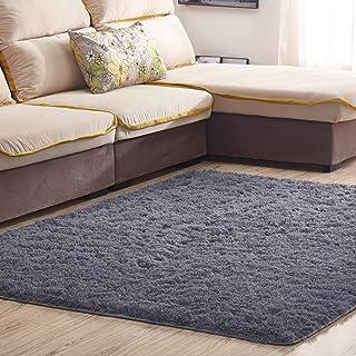 Satisinside - Alfombra de área mullida ultra suave con parte trasera antideslizante, alfombra de felpa para el hogar, sala...