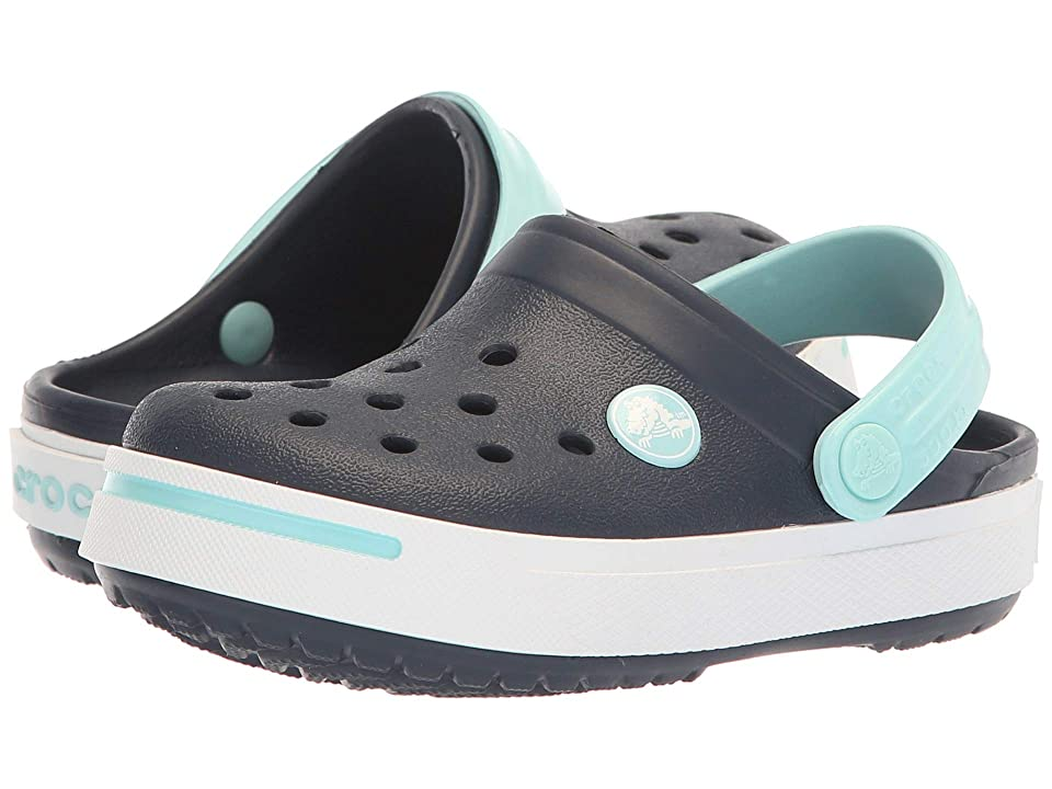 Crocs Kids Crocband II (Toddler/Little Kid) (Navy/Ice Blue) Kid