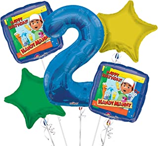 Handy Manny Balloon Bouquet 2nd Birthday 5 pcs - Party Supplies