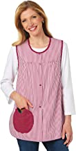 Carol Wright Gifts Cobbler Apron for Women with Pockets Snap Front   Craft Apron for Adults with Pockets   Cobbler Smock Apron, Color Apple, Size Extra Large (2X), Apple, Size Extra Large (2X)