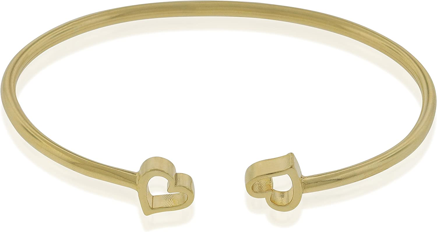 Alex and Ani Women's Heart Cuff Bracelet, 14kt Gold Plated, Expandable