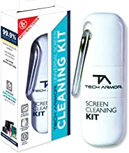 Tech Armor 8ML Mobile Cleaning Kit with Anti-Microbial Formula and Cleansing Microfiber Cloth