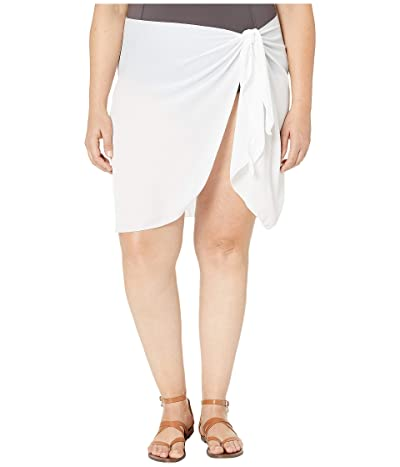 DOTTI Plus Size Summer Short Sarong Pareo Cover-Up (White) Women