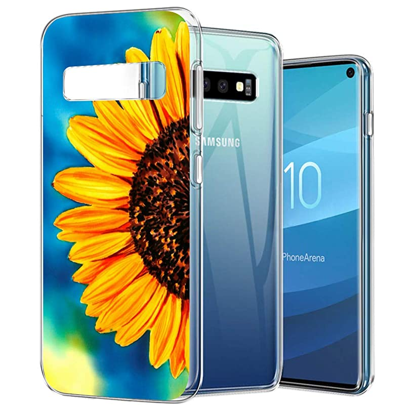 Galaxy S10 Case, Sunflower Transparent Ultra Thin Slim Fit Soft Silicone TPU Clear Cover Case Compatible with Samsung Galaxy S10for Samsung Galaxy S10 GEMYON for Samsung Galaxy S10 GEMYON