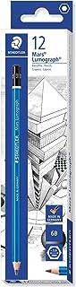 Staedtler Mars Lumograph 6B Graphite Art Drawing Pencil, Soft, Break-Resistant Bonded Lead, 12 Pack, 100-6B