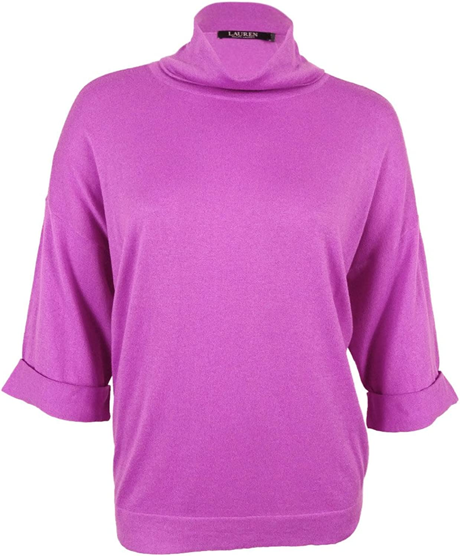 Ralph Lauren Womens Purple Long Sleeve Turtle Neck Sweater US Size  XL