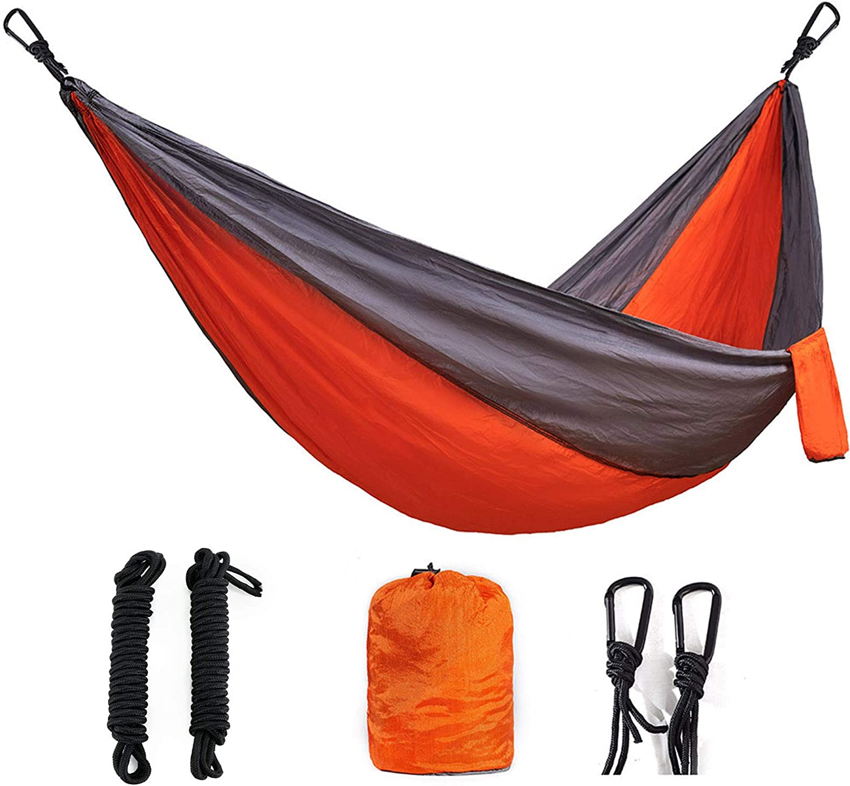Camping Hammock Lightweight Portable Parachute Nylon Hammock Set for Indoor and Outdoor