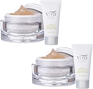 Vivo Per Lei Facial Peeling Gel - Face Peel Containing Dead Sea Minerals and Nut Shell Powder - Exfoliating...