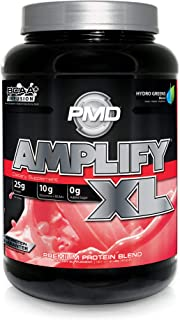 PMD Sports Amplify XL Superior Protein Supplement - Glutamine and Whey Protein Matrix with Superfood for Muscle, Strength and Recovery - Strawberry Slam - 24 Servings