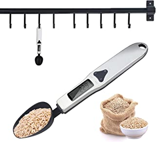 ملعقة رقمية قياس ملعقة المطبخ إلكترونية، إكسسوارات أدوات المطبخ مع شاشة LCD لقياس الوزن للطهي والخبز 500 جم/0.1 جم وحدة دع...