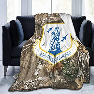 JSOY GSTW Air Force Air National Guard Lightweight Warm Throw Blanket Flannel Velvet Bed Blanket Fit Couch Sofa Suitable for All Season
