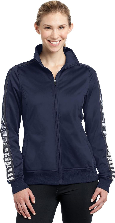 Sport-Tek Women's Dot Sublimation 25% Popular standard OFF Jacket Track Tricot