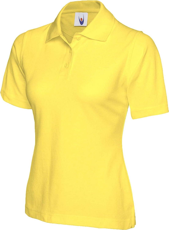 Uneek clothing UC106 Ladies Polo Shirt 2 Pack - Yellow - XL