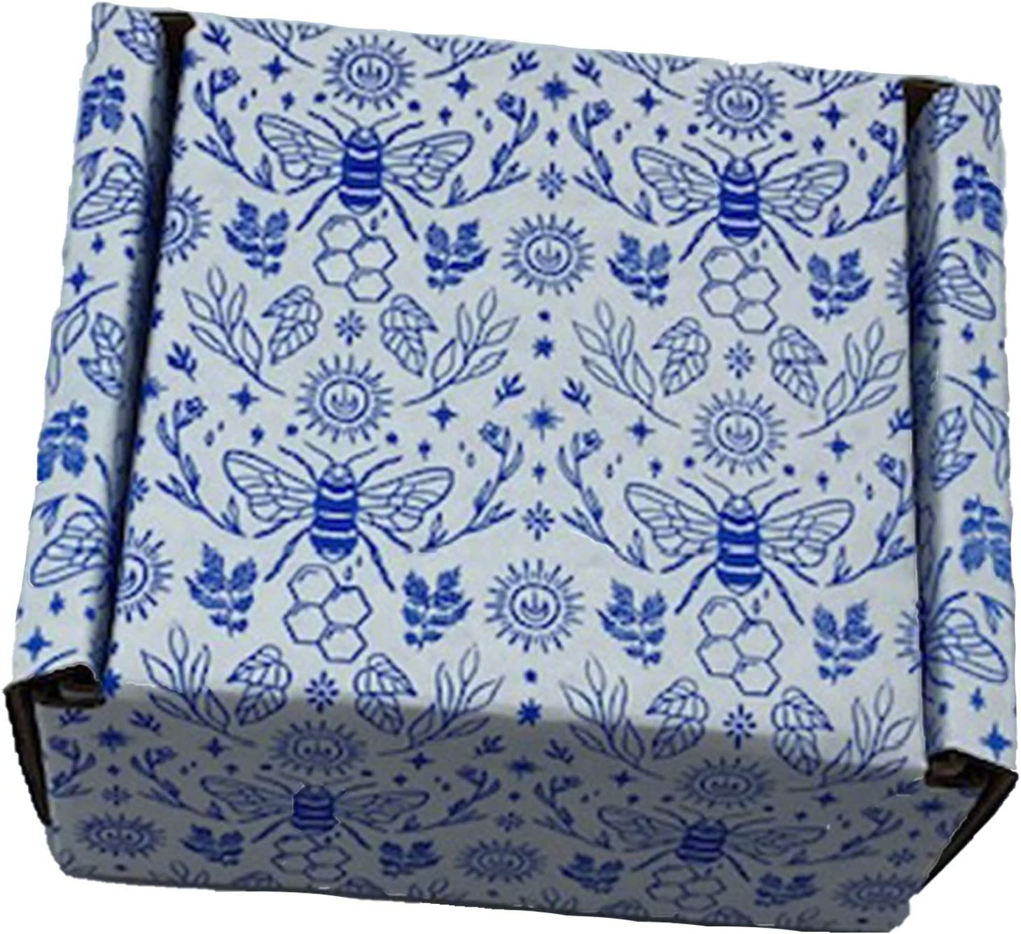 Box Mailer Luxury goods 4x4x2 Discount mail order Bee Print Pack 25