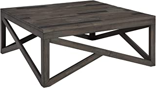 Signature Design by Ashley - Haroflyn Rustic Square Cocktail Table, Gray