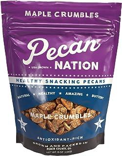 Pecan Nation Maple Flavored Roasted Pecan Pieces 4 oz., Natural, No preservatives, Antioxidant-Rich, Non-GMO, Healthy Nut ...