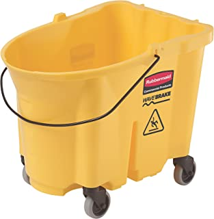 Rubbermaid Commercial  Yellow 35-Quart WaveBrake Mopping Bucket with Caster Kit, 1-Pack (FG757000)