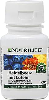 Heidelbeere mit Lutein NUTRILITE™ - Nahrungsergänzungsmittel mit Heidelbeere, Lutein und Vitamin A - 62 Kapseln / 29 g - Amway - Art.-Nr.: 104144