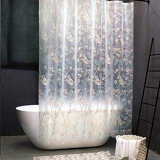 impermeabile senza PVC con 12 anelli ganci per vasca da bagno extra lunga lavabile 180 x 180 cm Multi 02 con ganci a forma di U QLSM Tenda da doccia trasparente
