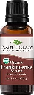 Plant Therapy Frankincense Serrata Organic Essential Oil 100% Pure, USDA Certified Organic, Undiluted, Natural Aromatherapy, Therapeutic Grade 30 mL (1 oz)