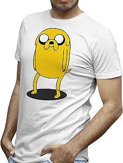 DibuNaif Camiseta Hombre - Unisex Animación, Personajes, Jake el Perro - Hora de Aventuras