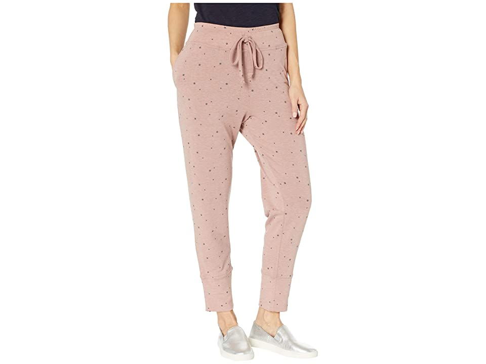 B Collection by Bobeau Printed French Terry Sweatpants (Tossed Star) Women