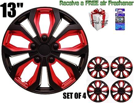 SUMEX 506138B Original Set of 4 Hub caps SPA, red and Black, Beautiful Design
