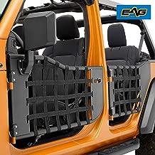 EAG Matrix Tubular Door Set with Side View Mirror Pair Fit for 2018-2019 Jeep Wrangler JL 4 Door Only