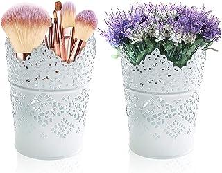 Geoyien Potlood Houder Cup Set Holle Pen Houder Pen Mand Potlood Pot Organiser Borstel Makeup Container Ronde Pen Pot Voor...