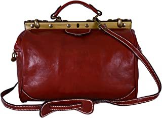 Borsa Da Medico In Pelle Colore Rosso - Pelletteria Toscana Made In Italy - Business