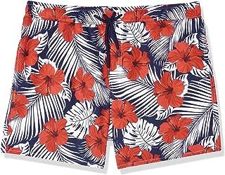 Hero Basic Floral-Print Drawstring Elastic Waist Swim Shorts for Men XL