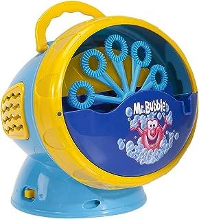 Kid Galaxy Mr. Bubble Super Bubble Machine Blower, Blue/Yellow, 5.5 x 6 x 5.5