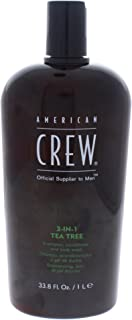 American Crew 3-In-1 Shampoo Conditioner & Bodywash, Tea Tree, 33.8 Ounce