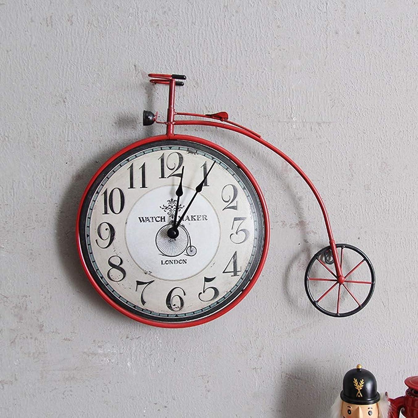 打撃腹痛においIUYWL壁時計 リビングルームの寝室自転車壁掛け時計パーソナライズ装飾時計壁の装飾壁の装飾トランペット IUYWL壁時計