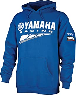 Special Edition Yamaha Racing Hooded Sweatshirt Blue Crp-14frc-bl-lg