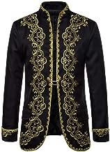 Beautyfine Men's Casual Gothic Long Sleeve Shirt Jacket Punk Outwear Coat