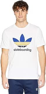 adidas Skateboarding Clima 3.0 Tee White/Collegiate Royal/Tactile Yellow XS