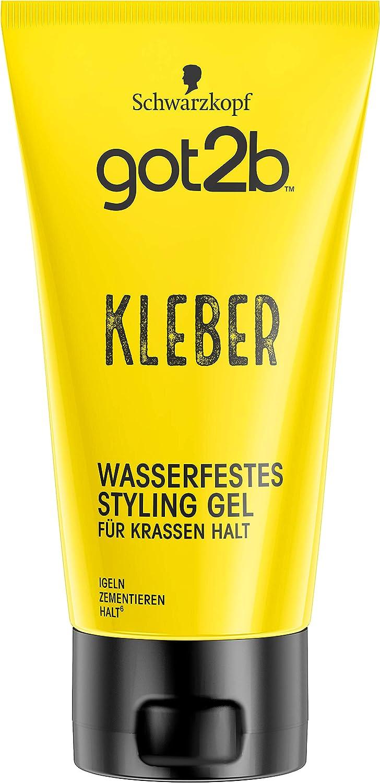 got2b Schwarzkopf - Pegamento resistente al agua, gel de peinado (1 x 150 ml)