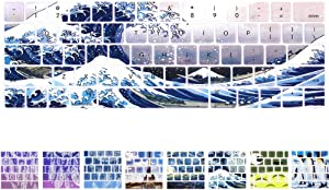 Funut MacBook Pro Keyboard Cover with Touch Bar 13 inch Silicone Keyboard Skin and 15 inch Premium Ultra Thin TPU 2019-2016 (Apple Model A2159 A1989 A1990 A1706 A1707) Skin Protector - Showa Sea