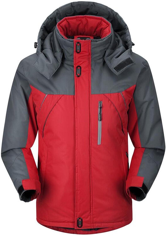 UUYUK UUYUK UUYUK Mens Winter Hiking Fleece Waterproof Hooded Jacket Coats 6e5614