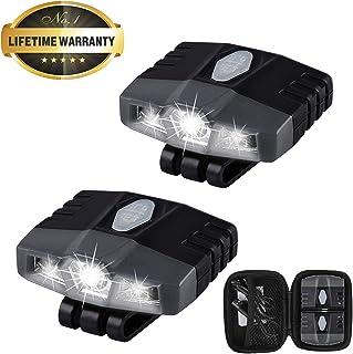Ultra Bright Mini Hands Free Cree LED Clip on Cap Light - Rechargeable Waterproof Hat Light Flashlight Headlamp for Fishin...