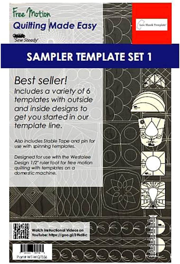 tanbea-UK Quilting Template Quilting Template Expansion Pack For Sewing Machine Acrylic Rulers Templates 1 Pcs 2019 New Ruler Template Sampler Set For Domestic Sewing Machine