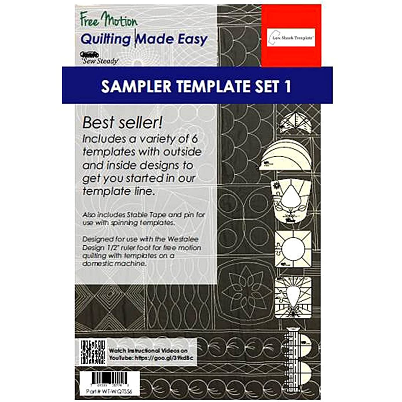 Sew Steady Quilting Template 6 Piece Template Set (High Shank)