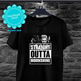 Straight Outta Moonshine The Walking Dead Daryl Dixon T-Shirt For Men And Women